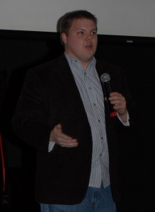 Evan Carroll speaking at Ignite Raleigh