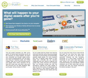 New Entrustet Homepage