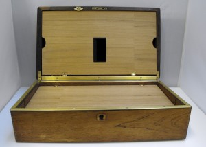 Photobox, a Bluetooth-enabled printer inside of a wooden chest.