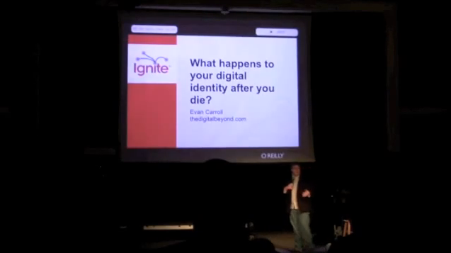 Evan Carroll speaks at Ignite Raleigh