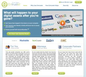New Entrustet Homepage
