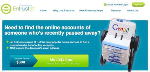 Entrustet Digital Property Search