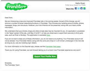 Friendster Email