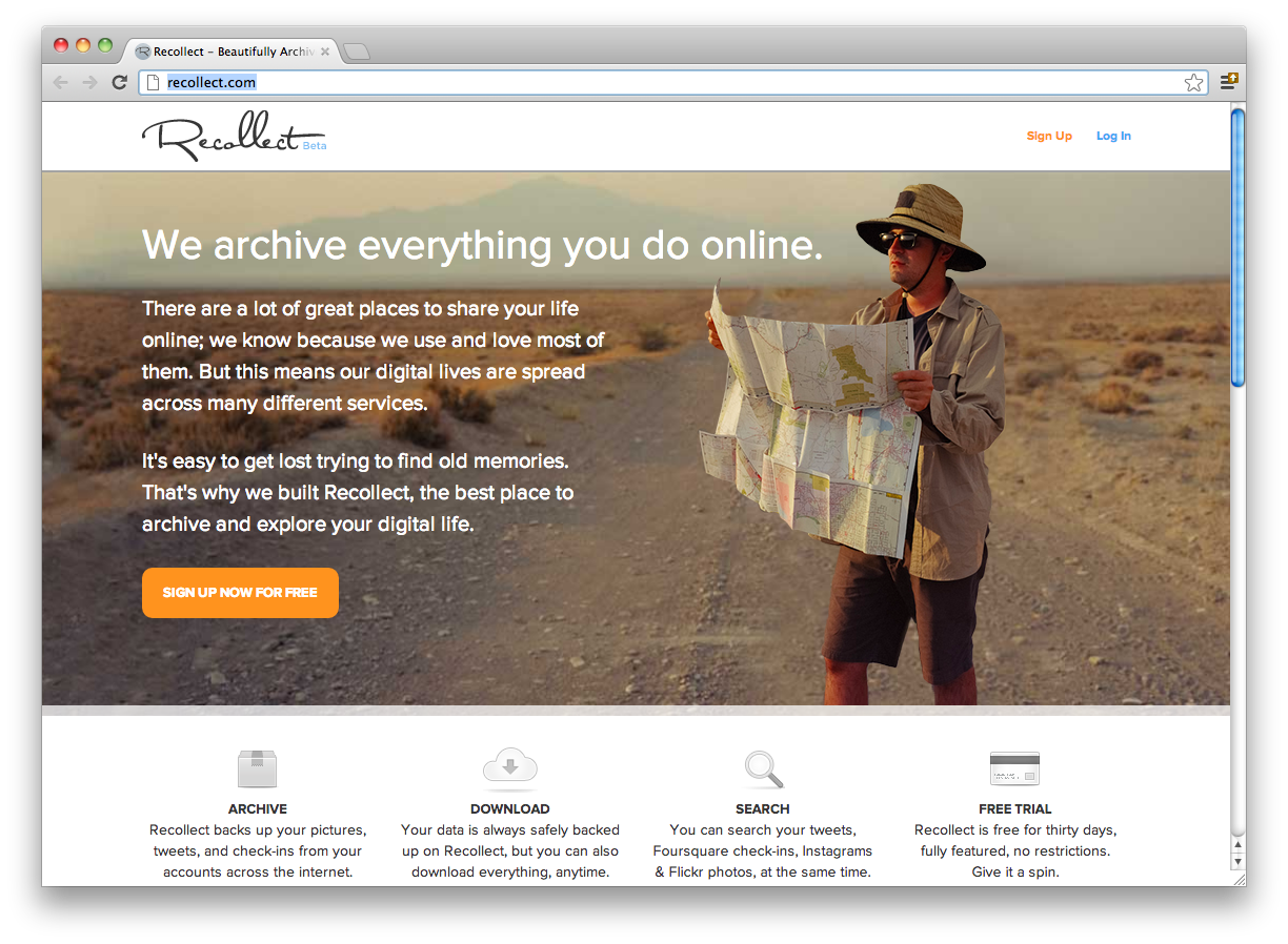Recollect: Archive Your Online Life
