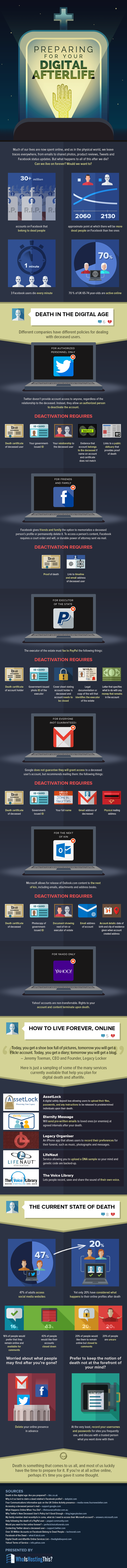 Your Digital Afterlife Infographic